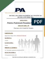 Tarea II de Práctica Profesional (Pasantía) de 120 horas.