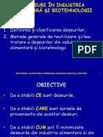 Deseuri in Industria Alimentara Si Biotehnologii - Curs 1