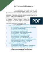 4.- Las Fallas Más Comunes Del Embrague