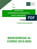FUNDAMENTOS MATEMATICOS I TUTORIA 10 19 20
