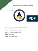ESTRUCTURA ORGANICA DE LA FUNCIÓN EJECUTIVA DE LA REPUBLICA DEL ECUADOR