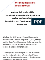 Teorie Delle Migrazioni Internazionali