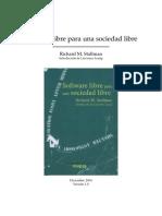 Software libre para una sociedad libre [Richard M. Stallman]