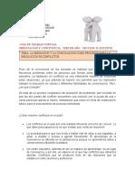 GUIA DE TRABAJO VIRTUAL  ORIENTACION Y CONVIVENCIA   TERCER AÑO SECCION  B
