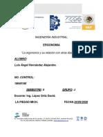 Luis Angel Hernandez Alejandre - 5°J - 18640160 - (Ergonomia y su relacion con otras disciplinas)