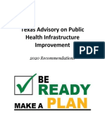 Texas Advisory on Public Health Infrastructure Improvement