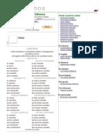 Cantar - conjugación del verbo en italiano