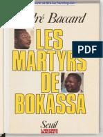les martyrs de Bokassa