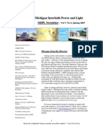 Michigan Interfaith Power and Light - Spring 2007