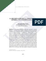 la delimitacion de la violencia de genero. un concepto espinoso - Margarita Roig Torres.pdf
