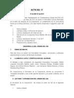 ACTA NO 17 de 2017 concejo