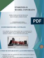 GRUPO 7 -SUSPENSIONES O CADUCIDADES DEL CONTRATO
