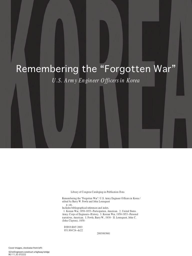 Remembering a Forgotten War