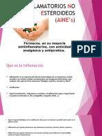ANTIINFLAMATORIOS NO ESTEROIDEOS Ejemplo