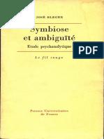 1967 José Bleger Symbiose et Ambiguïté