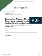 Rapport de Maurice Merleau-Ponty pour la création d'une chaire d'Anthropologie sociale.pdf