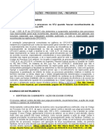 Atualizações Jurisprudenciais - Processo Civil - Recursos