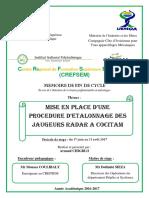 PFE-CHIGBLO_MISE EN PLACE D'UNE PROCEDURE D'ETALONNAGE DES JAUGEURS RADAR A COCITAM.pdf