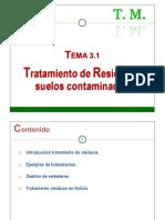 3.1 - Tratamiento de Residuos y  suelos contaminados
