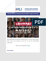 USHLI - Rumba Meats Scholarship Deadline Approaching!