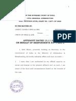 TJ- Media Reporting- Union Affidavit