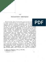 Salomon Reinach Panaitios critique fr