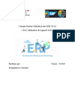 Compte Rendu Utilisation des ERP 20