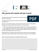 NBA expands 2021 playoffs with play-in games