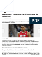 Kaleb Wesson_ 'I can operate the pick-and-pop at the highest level'