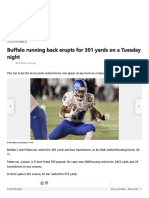 Buffalo running back erupts for 301 yards on a Tuesday night