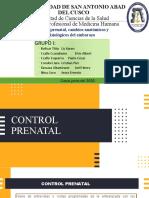seminario 1 Control prenatal cambios anatómicos y fisiológicos del embarazo