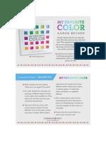 My Favorite Color by Aaron Becker Teacher Tip Card