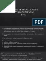 SYSTÈME DE MANAGEMENT ENVIRONNEMENTAL
