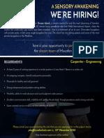Job Advert - Carpenter