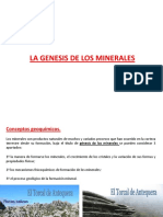 Genesis de Minerales
