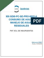 ANEXO 50 MX-SDI0-PC-SE-PRO-0022-A Manejo de Aguas Residuales