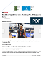 The Other Top 25 Preseason Rankings_ No. 10 Duquesne Dukes