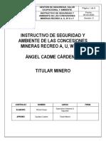 INSTRUCTIVO DE SEGURIDAD Y AMBIENTE CONCESIÓN MINERA RECREO A U W X Y.pdf