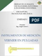 INSTRUMENTOS DE MEDICIÓN - VERNIER