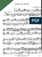 Andante and Menuetto, Mozart