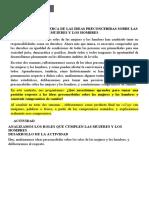 REFLEXIONAMOS ACERCA DE LAS IDEAS PRECONCEBIDAS SOBRE LAS MUJERES Y LOS HOMBRES