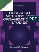 metode de cercetare in studiul organizatiilor