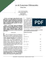 Aplicacion de ecuaciones diferenciales