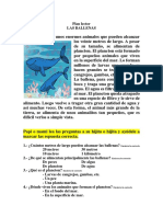 Plan lector Las ballenas martes 17 de noviembre
