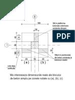 Dimensiuni Reale Si Pozare Stalp Pe Blocul de Fundare Din Ax1-F