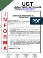 UGT INFORMA Plan de formacion continua FSP-UGT Cádiz