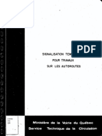 Signalisation tomporaire pour travaux sur l'autoroutière