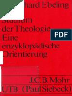 Gerhard Ebeling - Studium der Theologie. Eine enzyklopädische Orientierung (Uni-Taschenbücher 446)  -Mohr Siebeck (1975).pdf