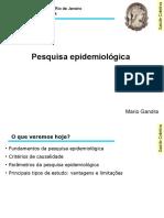 Epidemiologia 3 - pesquisa epidemiológica - SLIDES