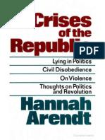 Arendt - Crises of the Republic
